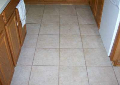 Tile and grout after cleaning.