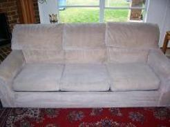 After upholstery cleaning.